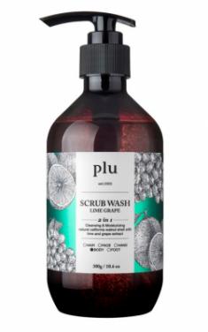 Скраб-гель для душа лайм и зеленый виноград PLU Scrub wash lime grape 300г